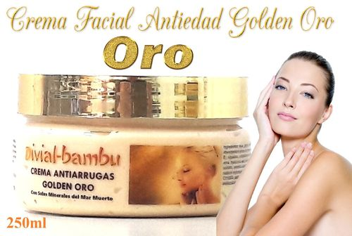 Crema Facial Antiedad Golden Oro 250ml